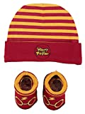 Harry Potter Infant Boys Baby Beanie Hat and Baby Bootie Socks Gift Set (Yellow/Red, 0-12 Months)