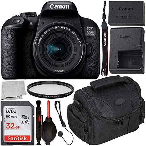 Find Discount Canon EOS 800D DSLR Camera with 18-55mm is STM Lens & Starter Accessory Bundle – Inc...