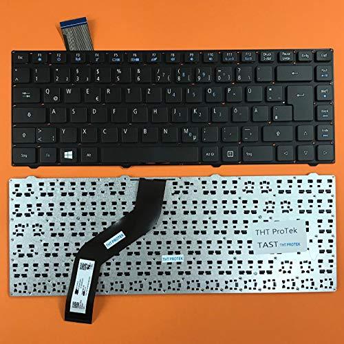 kompatibel für ACER Swift 1 (SF114-32-P8GG) Tastatur - Farbe: Schwarz - ohne Rahmen Deutsches Tastaturlayout