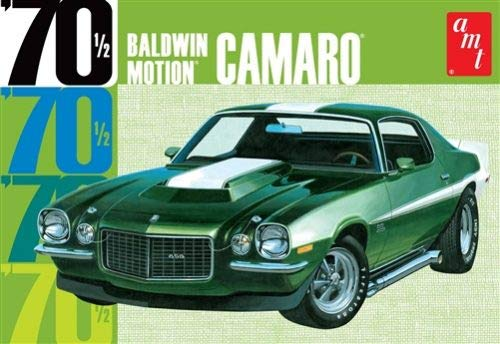 AMT Baldwin Motion 1970's Chevy Camaro 1:25 Scale Model kit (Molded in Dark Green)