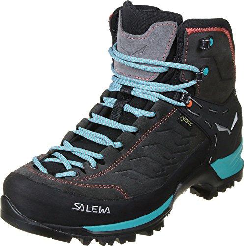 Salewa WS Mountain Trainer Mid Gore-TEX Scarponi da trekking e da escursionismo, Magnet/Viridian Green, 37 EU
