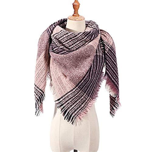 AiKoch Bufanda De Las Mujeres Invierno Bufandas De Tela Escocesa For Los Mantones De Las Señoras Envuelve El Cuello Caliente Triángulo Comfortable (Color : S19)