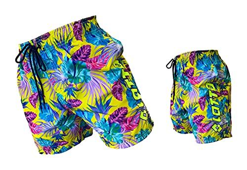 Lotto Costume Uomo Boxer Mare Pantaloncini da Bagno (48449 Giallo Fluo, XL)