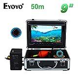 "Eyoyo WF09 9"" TFT LCD 50M 魚群探知機 赤外線LED フィッシュファインダー 輝度調節可能 水中 カメラ 釣り サンバイザー付"