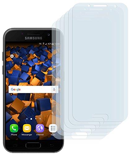 mumbi Schutzfolie kompatibel mit Samsung Galaxy A3 2017 Folie klar, Displayschutzfolie (6x)