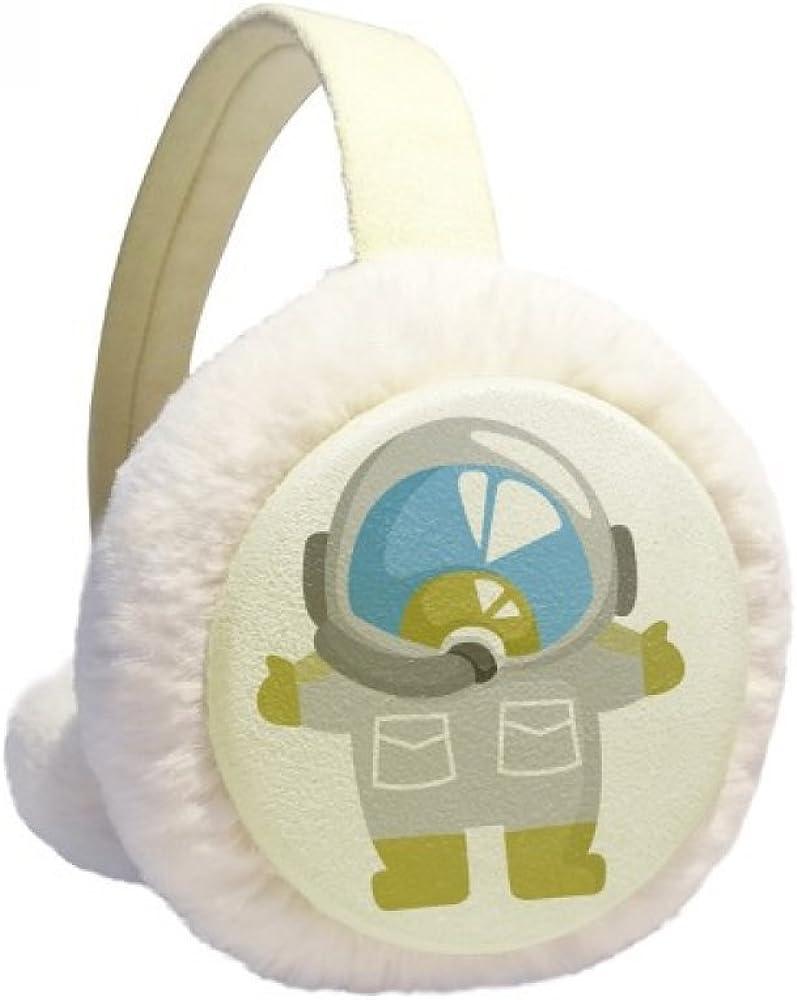 Universe And Alien Lovely Astronaut Winter Ear Warmer Cable Knit Furry Fleece Earmuff Outdoor