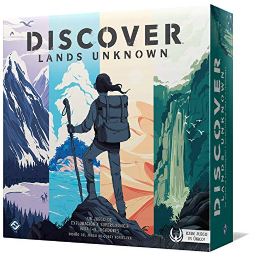Fantasy Flight Games- Discover: Lands Unknown - Español, Color (DSC01ES)