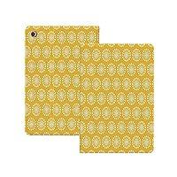 iPad Pro 11 ケース 2020 手帳型 黄色と白、モノクロ飾りパターン抽象タンポポの花みすぼらしい色装飾、マリーゴールドホワイト 黄色と白 [Apple Pencil 2 ワイヤレス充電対応] オートスリープ/ウェイク ブックカバーデザイン 角度調節可能なスタンド アーバンプレミアムフォリオケース iPad 11インチ(2020)専用 マリーゴールドホワイト
