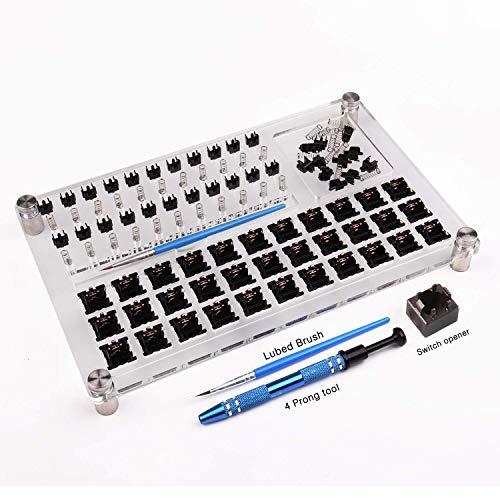 33 Switch Tester Switch Opener de lubrification acrylique bricolage plate-forme d'enlèvement à Double pont extracteur de touches pour clavier mécanique personnalisé Gateron Cherry