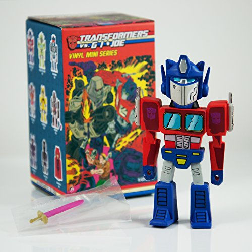 Optimus Prime Transformers vs GI Joe 3' Mini Series Kidrobot Vinyl Figure Opened Blind Box …