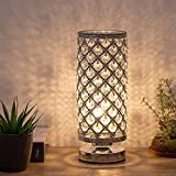 Crystal Table Lamp, Nightstand Desk Lamp Night Light Lamp, Small Decorative Lamps for Bedroom, Living Room, Dining Room, Dresser