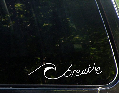 wave car window decal - 9