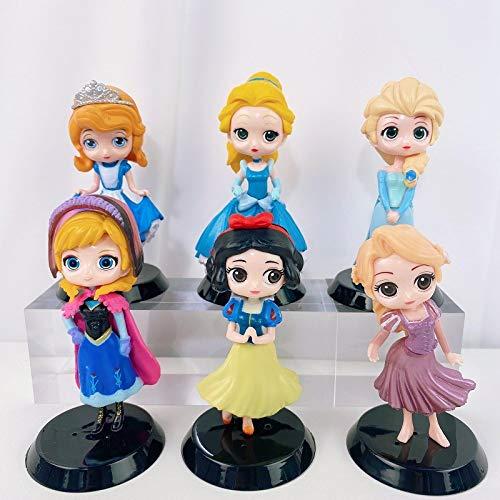 YUY Mini Biancaneve Principessa Bambola Anime Garage Kit Giocattoli Ornamenti Modello Burattini Modello Periferia Decorazione Torta Nuovo Modello Giocattoli per Bambini Regalo