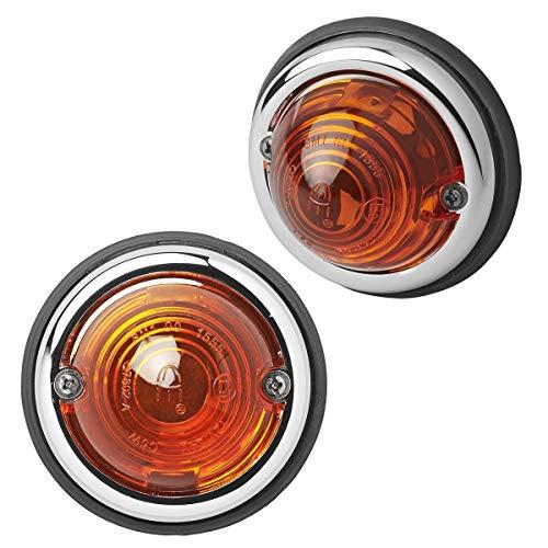 2X Positionsleuchte orange Seitenleuchte 70mm Markierungsleuchte für Anhänger