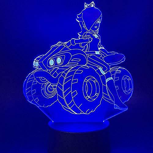 3D Nachtlicht Illusion Led Schönheit Mädchen Reiten Ein Quad für Office Home Arbeitszimmer Dekoratives Licht Schlafzimmer Tischlampe Geschenk Fernbedienung