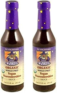 The Wizards Sauces, Sauce Worcestershire Vegetarian Organic, 8.5 Ounce (Pack of 2)