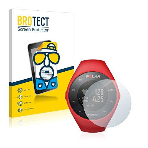 BROTECT 2X Entspiegelungs-Schutzfolie kompatibel mit Polar M200 Bildschirmschutz-Folie Matt, Anti-Reflex, Anti-Fingerprint