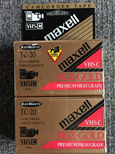 Sale!! Maxell TC-20 HGX Gold VHSC Camcorder Videocassette