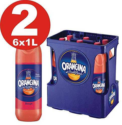 2 x 6 Orangina Limonade rouge 1Liter - 12 PET Flaschen in Originalkisten MEHRWEG