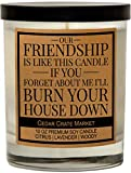 Our Friendship is Like This Candle, Best Friends Gift, Friendship Candle Gifts for Women, Funny Candles, Birthday Gifts for Friends Female, Funny Bestie Gifts for BFF, Coworker, Lavender Scented