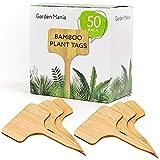 50 Pack Étiquettes pour Plantes en Bambou Naturel - Écologique & Biodégradable -...