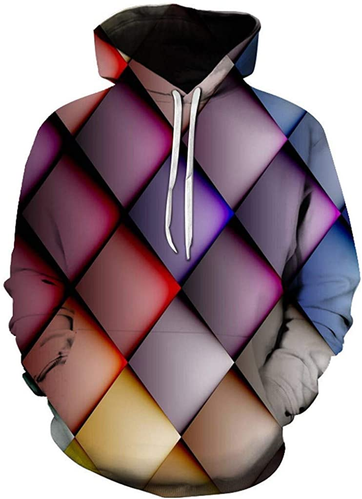 Unisex 3D Novelty Hoodies Graphic Print Galaxy Hoodies Pullover Sweatshirt Pockets Christmas Outwear Jacket Coats