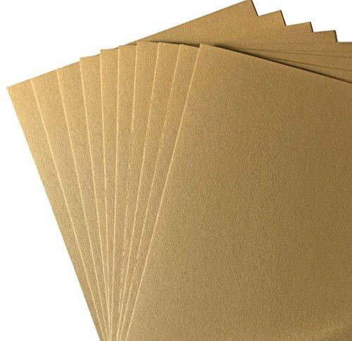10x cartoncini in carta Kraft Nomad, formato A4, riciclata, di alta qualità, da 350g/mq, per creazioni artigianali