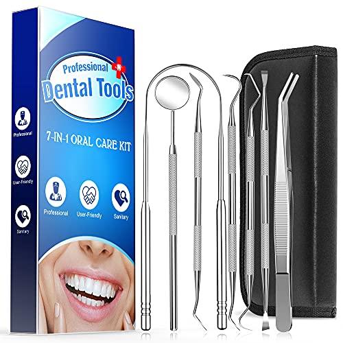 Limpiador de Lengua, limpieza dental kit dientes dentales que blanquea Kit de Blanqueamiento de Dientes Mantener la Boca Fresca 7PCS