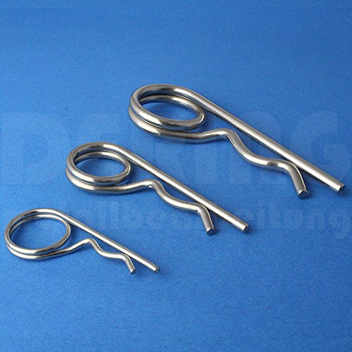 Federsplint 2,50 X 48 ähnl. DIN 11024 Edelstahl A2 (VPE = 12 Stück) | Federsplinte | Federstecker V2A 2,5x48 mm | Stecksplint | Splint | Sicherungssplint