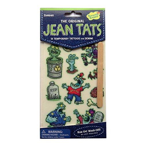L'original Jean / Denim / Tissu Tatouages - Zombies - par Peaceable Kingdom
