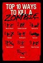 Buyartforless Work Framed Top 10 Ways to Kill 20x14 Art Print Poster Walking Dead Zombies, Red