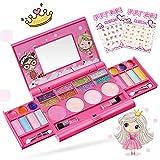 Pickwoo Maquillage Enfant Fille Lavable - Coffret malette Palette Maquillage Enfant RéAliste -Trousse De Maquillage -Jouet Ensemble De Maquillage Lavable pour Princesse Cadeau Filles 2 3 6 8 10 Ans