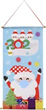 Merry Christmas Banner Decorations with Hook 30 * 15 Inch Non-Woven Fabric Hanging Flag for House, Wall, Windows, Happy Ne...