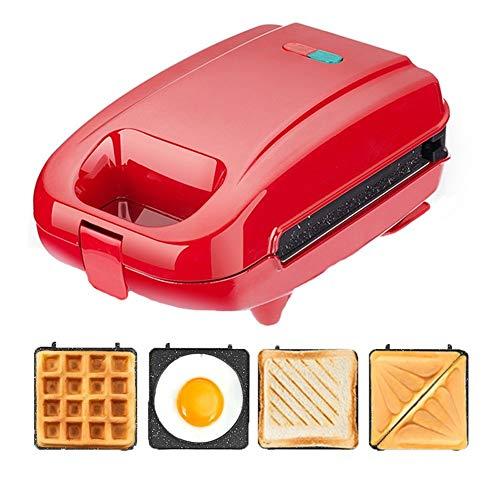 Gofrera sandwichera Sandwich profesional/Panini Cafetera, sandwichera eléctrica Wafflera, con placas desmontables antiadherente...