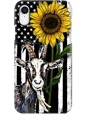Beautiful Sunflower with Goat Phone Case for Apple iPhone - Glass Case with Unique Fashion Printed Design, Slim Fit, Anti Scratch, Shock Proof,Case Cover Compatible for iPhone,8 Plus/7 Plus
