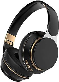 MDHANBK Auriculares inalámbricos Bluetooth con micrófono, Auriculares estéreo Ajustables Plegables