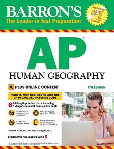 Barron's AP Human Geography, 7th Edition: With Bonus Online Tests (Barron's...