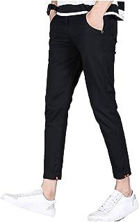 [アンリ] ストレッチ クロップパンツ アンクル丈 薄手 涼感 動きやすい スラックス コットンパンツ S ~ 2XL メンズ