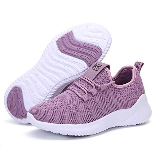 ZYEN Tennis Running Shoes Womens Athletic Walking Non Slip Breathable Mesh Lightweight Fashion Gym...