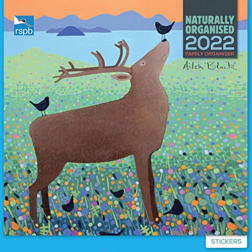 Ailsa Black RSPB 2022 Family Organiser Wall Calendar (30.5 x 30.5 cm)