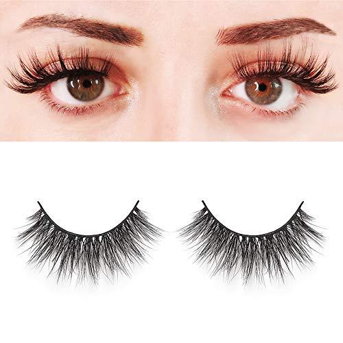 BEPHOLAN Mink Lashes| 100% Siberian Mink Fur Lashes| Dramatic Round Look| Long& Thick| Totally Cruelty-Free| Reusable &Handmade| Non-Irritating Fake Eyelashes| XMZ03