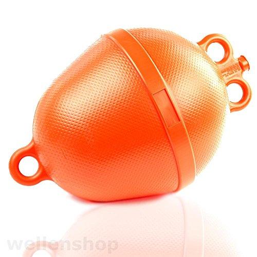 wellenshop Ankerboje Ø 250 mm Schwimmkörper Auftriebskörper Orange