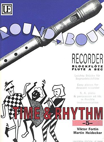 Time & Rhythm Band 5 für Blockflöte, Klavier, Gitarre, Schlagzeug - Partitur und Stimmen, gebraucht - gut