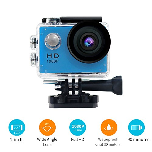 YUNTAB Sport Action Camera Vlog DV, HD 1080P 2.0 inch, 5MP, 120 Degree...
