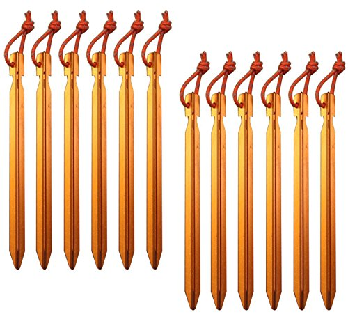 All one tech Pack of 12, 7075 Aluminum Outdoors Tent Stakes...