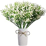 12 Pcs Babys Breath Artificial Flowers,LYLYFAN Gypsophila Real Touch Flowers for Wedding Party Home Garden Decoration
