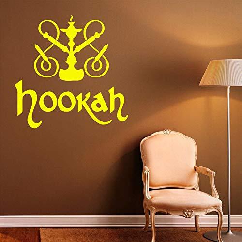 Ajcwhml Shisha Wand Applique Vinyl Aufkleber Shisha Shop Logo Dekoration entspannen arabische Innenarchitektur Kunst Wandbild Schlafzimmer Aufkleber