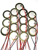 YQBOOM 15Pcs 20mm Piezo Discs with Leads Mic Drum Trigger Acoustic Pickup CBG Guitar