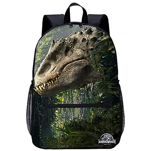 KKASD Jurassic World Mochila impresa en 3D Mochila de viaje para hombres y mujeres Mochila escolar para niños Mochila escolar de 17 pulgadas
