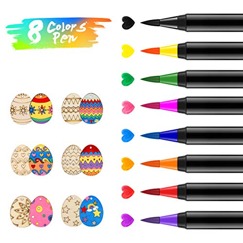 Marcadores Colorante Alimentario 8pcs Abree Kit de Rotulador Comestible Bolígrafos Colorantes de Alimentos Lápices Food Coloring para Colorear Huevos de Pascua Galletas Macaron Rosquillas